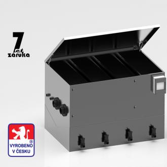 Nerezové filtrace - 4 Komorová filtrace z nerez oceli pro jezírka 10-30m3 NE K1.5