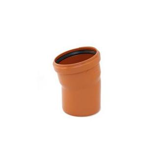 Instalaterský materiál - Koleno jednohrdlové 15° PVC