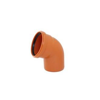 Instalaterský materiál - Koleno jednohrdlové 45° PVC