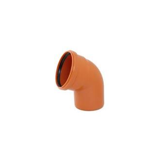 Instalaterský materiál - Koleno jednohrdlové 67° PVC