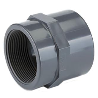 PVC tvarovka - přechodka, vnítřní závit, 40mm x 1-1/4